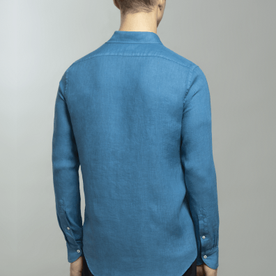 Garment-dyed linen shirt