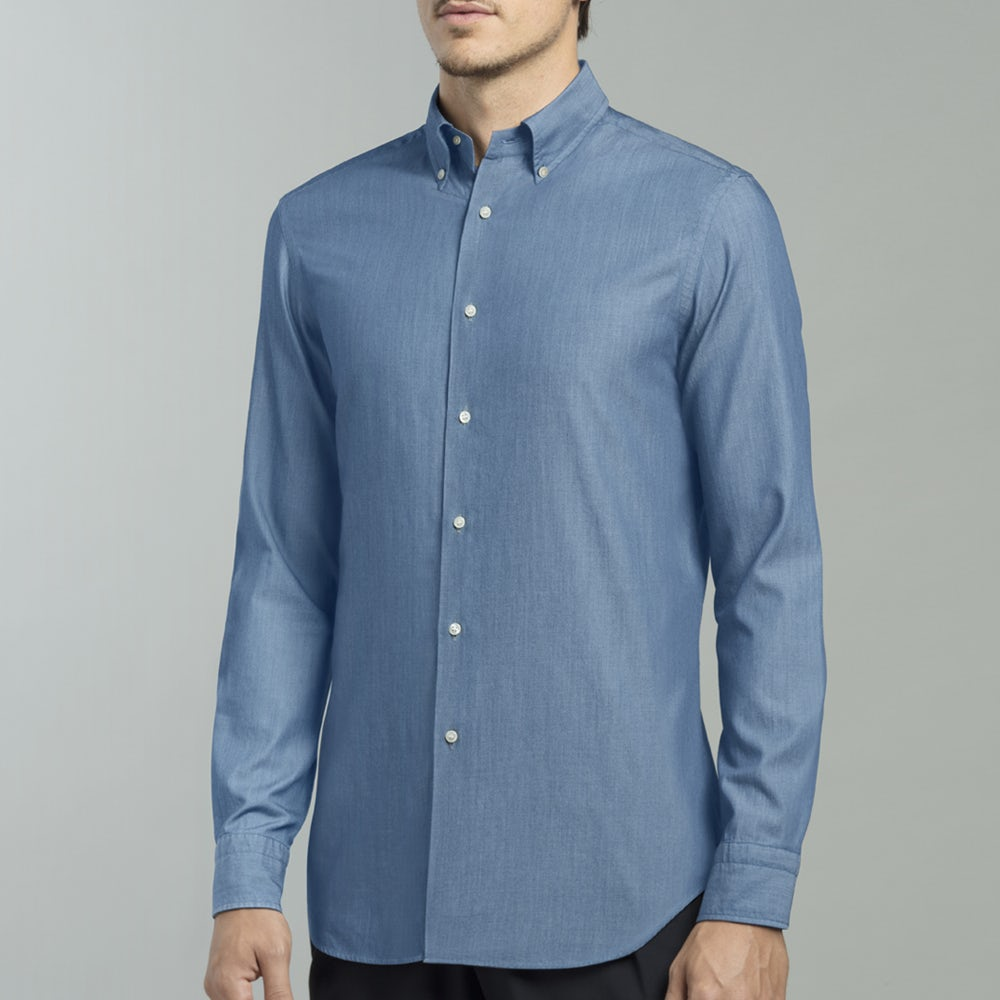 innovative design 557a9 183ad Camicia denim