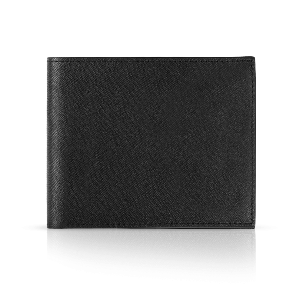 e676fa9909 Small saffiano leather wallet without coin purse