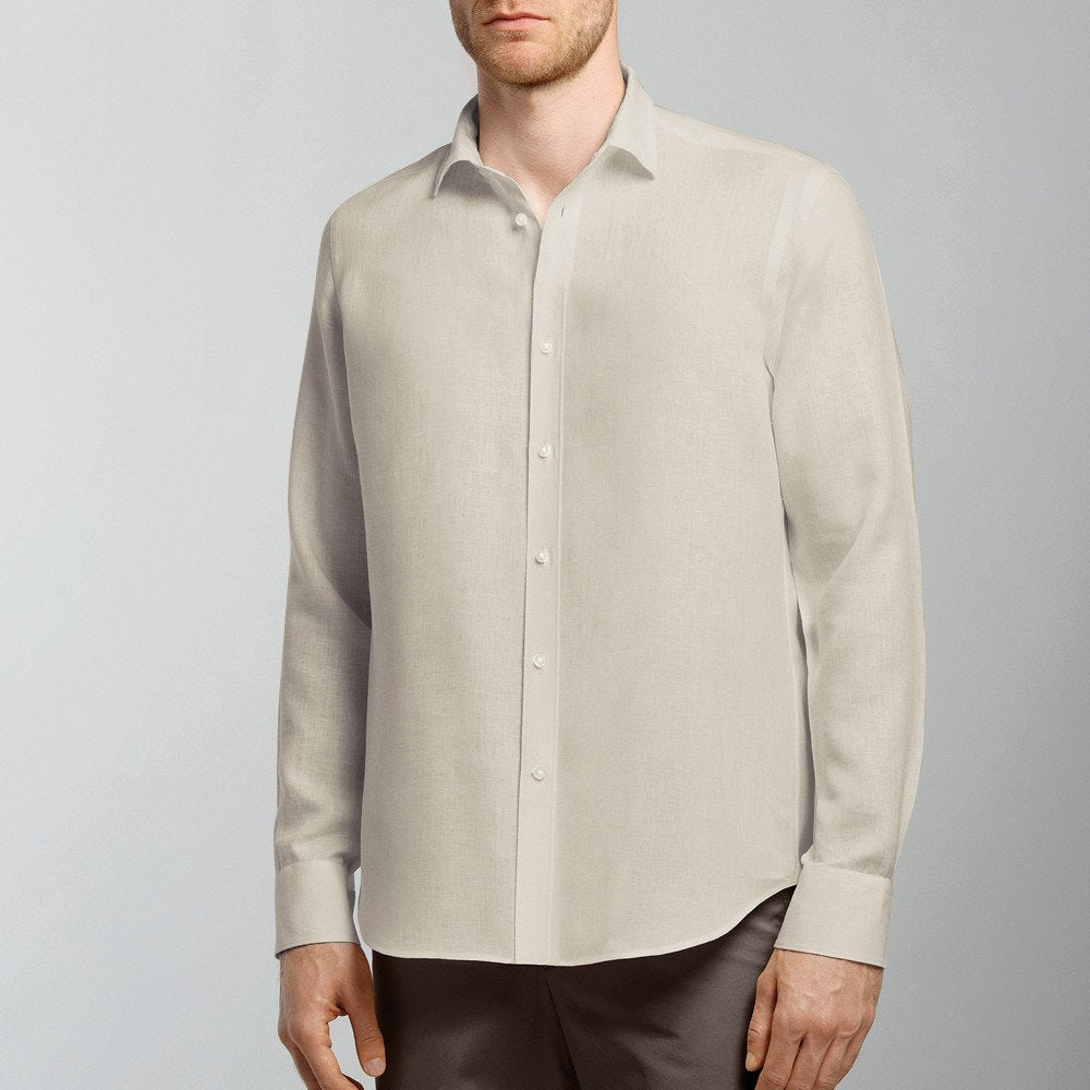 Yarn-dyed linen shirt